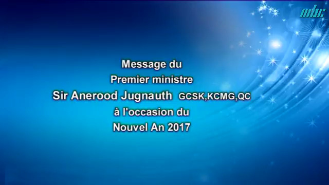 Message Du Premier Ministre Sir Aneerood Jugnauth à L