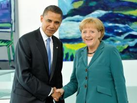 Obama rencontre Merkel